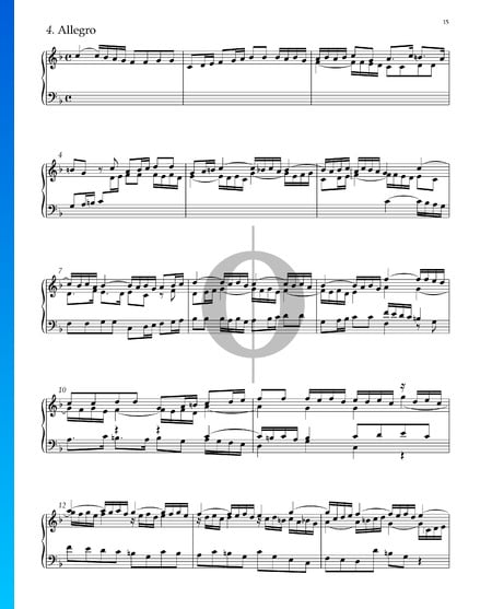Suite No. 2 F Major, HWV 427: 4. Allegro Sheet Music