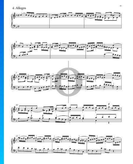 Suite Nr. 2 F-Dur, HWV 427: 4. Allegro Musik-Noten