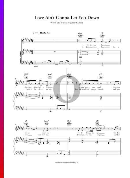 Love Ain't Gonna Let You Down Sheet Music