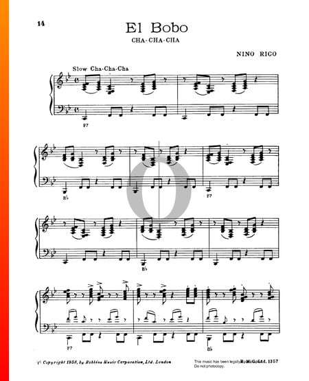 El Bobo Sheet Music