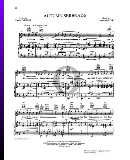 Autumn Serenade Sheet Music