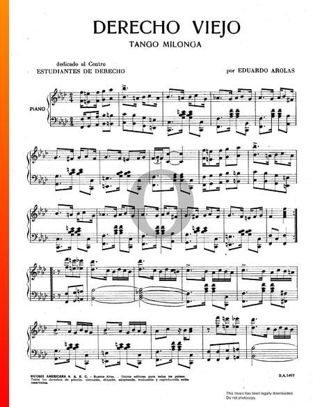 Derecho Viejo Musik-Noten