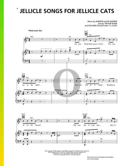Jellicle Songs For Jellicle Cats Musik-Noten