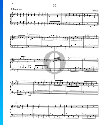 Chaconne g-Moll, HWV 486 Musik-Noten