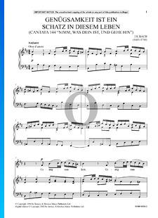 Nimm was dein ist, und gehe hin, BWV 144: Genuegsamkeit ist ein Schatz in diesem Leben