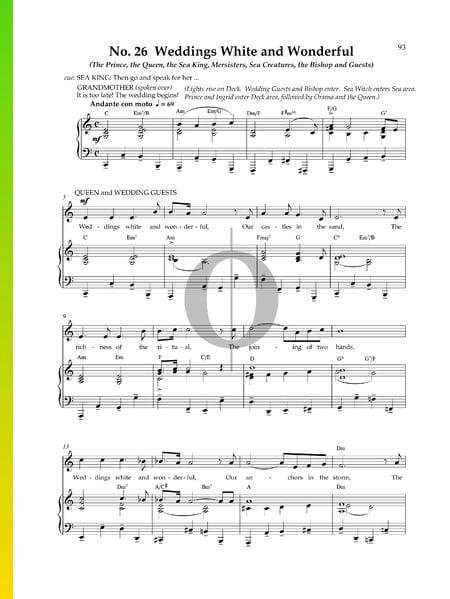Weddings White and Wonderful Musik-Noten