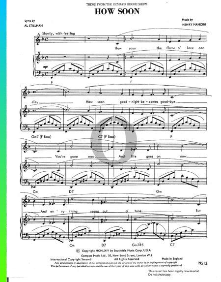 How Soon Musik-Noten