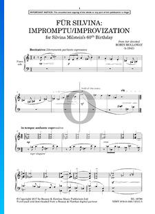 Für Silvina: Impromptu/Improvization