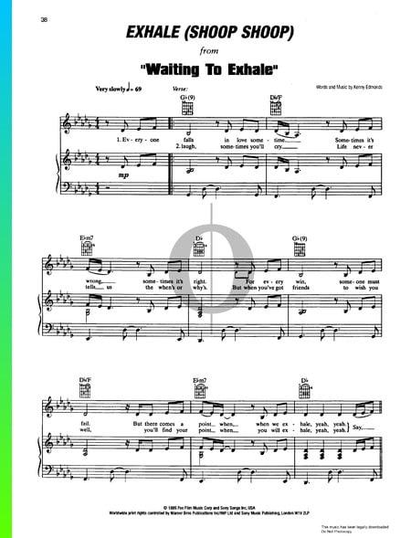 Exhale (Shoop Shoop) Sheet Music
