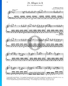 Allegro en Si bémol Majeur, KV 8: 1er Mouvement