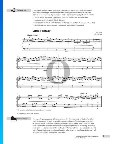 Fantasia d-Moll, H.195 Musik-Noten