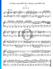 Menuet en Fa Majeur, BWV Anh. 113