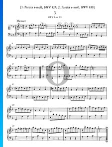 Menuet F-Dur, BWV Anh. 113