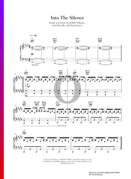 Into The Silence Sheet Music