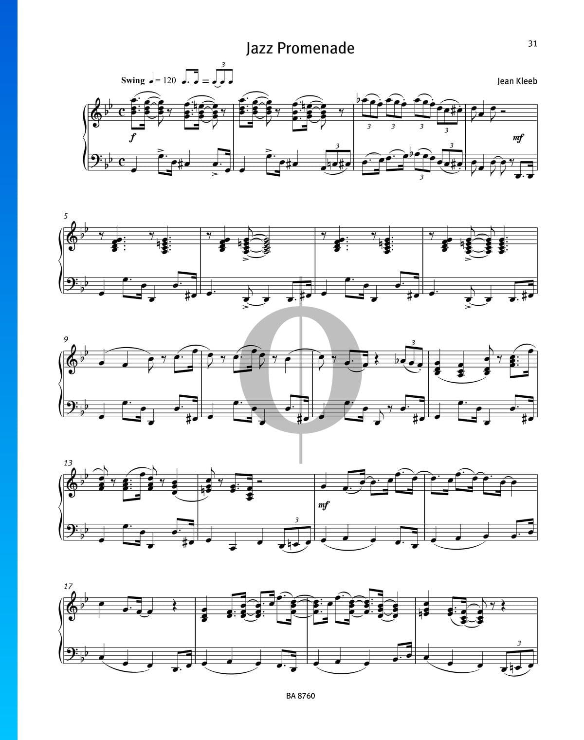 ▷ Jazz Promenade Sheet Music (Piano Solo) - PDF Download