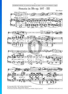 Sonate in B-Dur, Op. 107: 3. Adagio