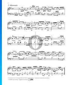 Suite n.º 1 en la mayor, HWV 426: 2. Alemanda
