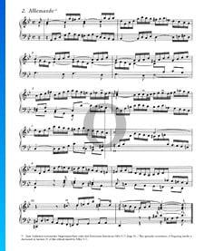 Suite inglesa n.º 3 en sol menor, BWV 808: 2. Alemanda