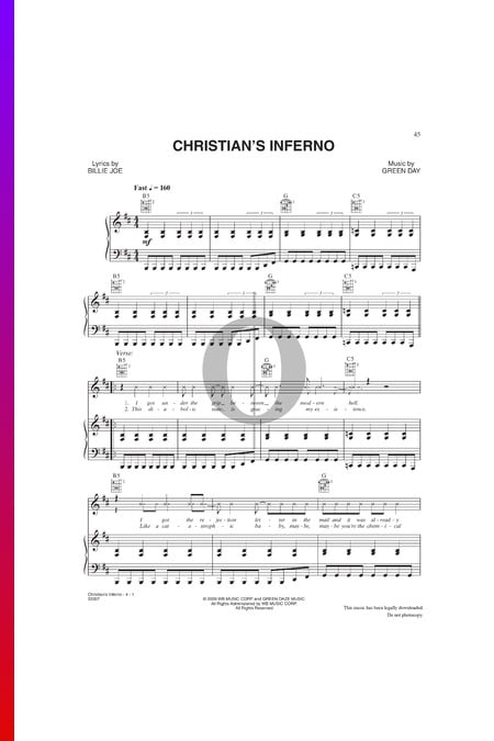 Christian's Inferno Sheet Music