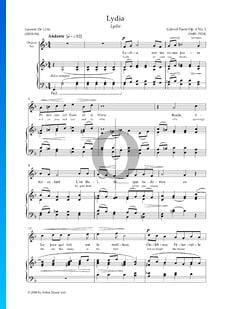 Lydia, Op. 4: n.º 2