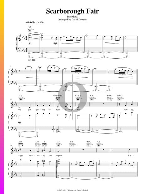 Scarborough Fair Sheet Music