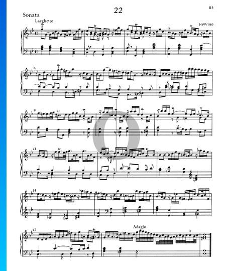 Sonata en sol menor, HWV 580 Partitura