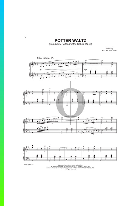 Potter Waltz Musik-Noten