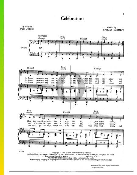 Celebration Musik-Noten
