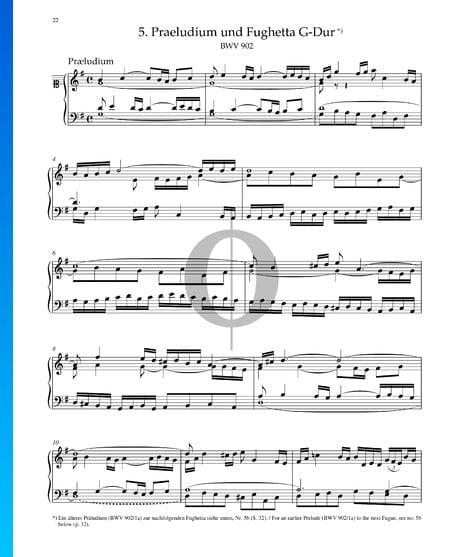 Praeludium in G-Dur, BWV 902 Musik-Noten
