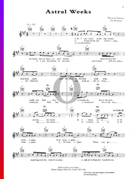 Astral Weeks Sheet Music