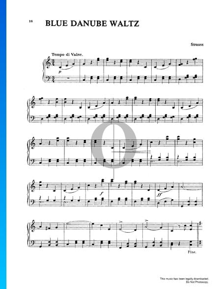 The Blue Danube, Op. 314 Sheet Music