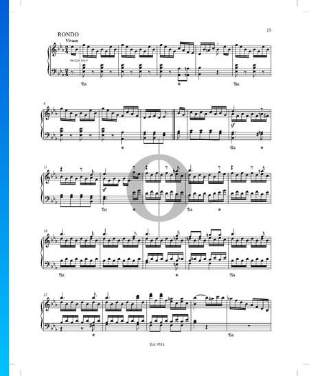 Sonate Es-Dur Nr. 1, Op. 51 P. XII: 38: 3. Rondo Musik-Noten