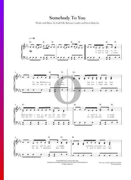 Somebody To You Musik-Noten