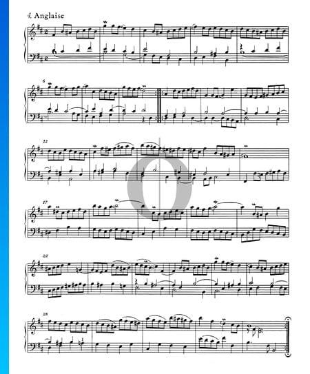 Französische Suite Nr. 3 h-Moll, BWV 814: 4. Anglaise Musik-Noten