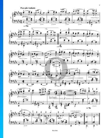Dieciséis valses, Op. 39 n.º 7 Partitura
