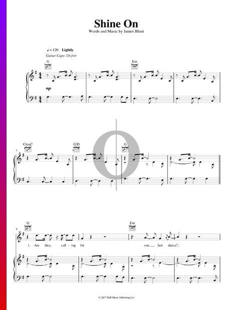Shine On Musik-Noten