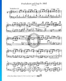 Prélude 22 Si bémol mineur, BWV 867