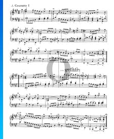 Englische Suite Nr. 1 A-Dur, BWV 806: 3. Courante I