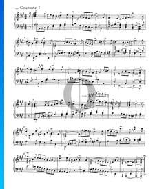Suite inglesa n.º 1 en la mayor, BWV 806: 3. Courante I