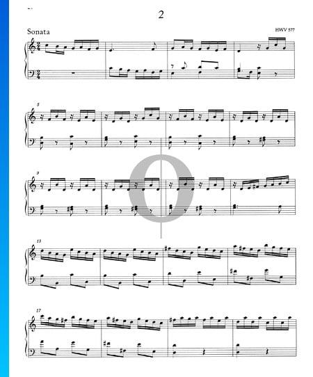 Sonata C Major, HWV 577 Sheet Music