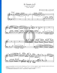 Sonate pour Piano No. 15 Fa Majeur, KV 533: 1. Allegro