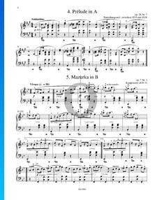 Mazurka en Si bémol Majeur, Op. 7 No. 1