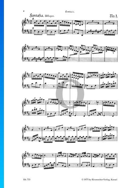 Fantasia, TWV 33:1 Sheet Music