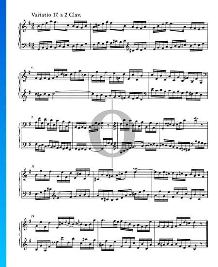 Goldberg Variationen, BWV 988: Variatio 17. a 2 Clav. Musik-Noten