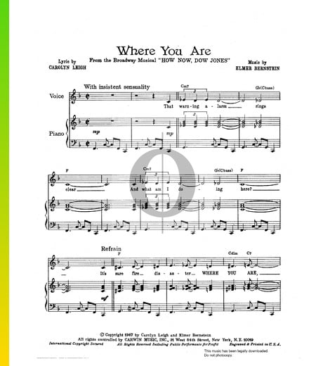 Where You Are Musik-Noten
