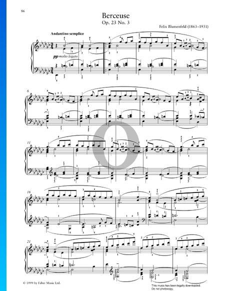 Berceuse, Op. 23 Nr. 3 Musik-Noten
