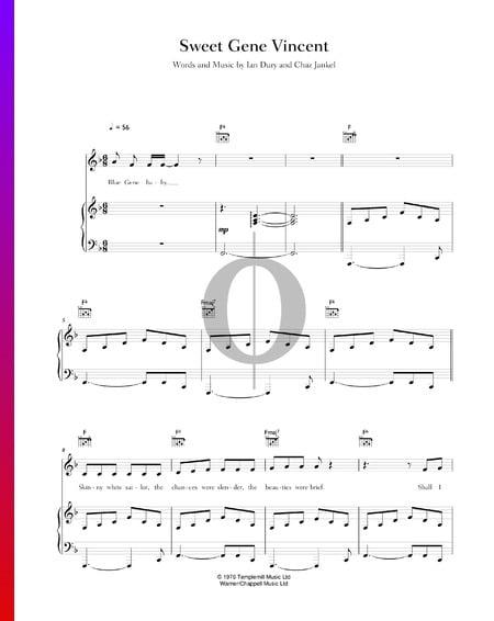 Sweet Gene Vincent Musik-Noten