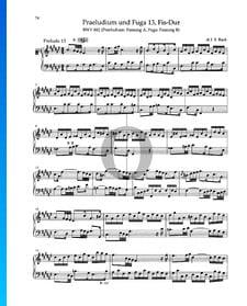 Prélude en Fa dièse Majeur, BWV 882