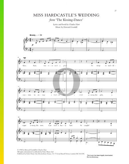 Miss Hardcastle's Wedding Sheet Music
