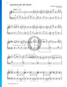 Sinfonía n.º 40 - Tema
